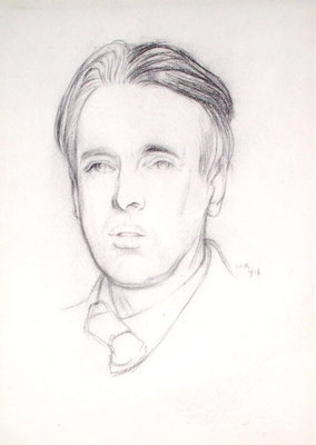 Portrait of W. B. Yeats by Sir William Rothenstein - print