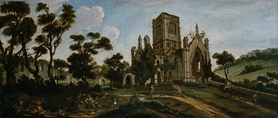 South View of Kirkstall Abbey, c.1738 by Johann Baptiste Bouttats - print