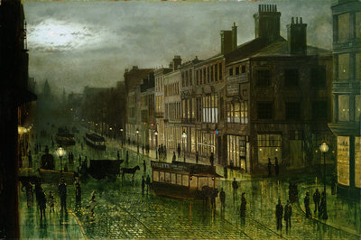 Briggate, Leeds, 1884 by Wilfred Jenkins - print