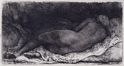 Negress Lying Down, 1658 by Rembrandt Harmensz. van Rijn - print