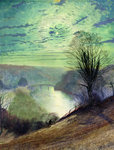 On the Tees, near Barnard Castle, c.1868 Poster Art Print by John Atkinson Grimshaw