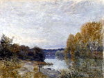 Soleil Couchant, or Autumn Evening on the River, 1895 Poster Art Print by Claude Monet