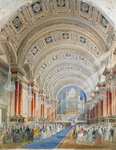 Interior Perspective, Leeds Town Hall, 1854
