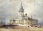 Design for Leeds Town Hall, 1854