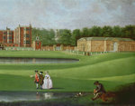 View of Temple Newsam House, detail of the stable block, c.1750