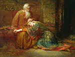 Cordelia comforting her father, King Lear, in prison, 1886