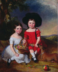 Annie and John Edward, children of Thomas Rhodes of Leeds Poster Art Print by Balthasar Denner