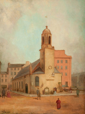 Old St Matthew's Church, Douglas Poster Art Print by Wright