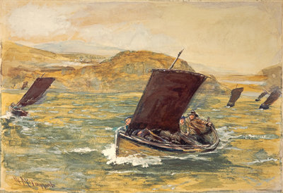 Off to the Fishing Poster Art Print by William McTaggart