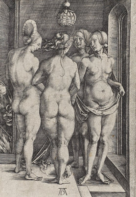 The Four Witches (Bartsch No. 75 (89)) Poster Art Print by Albrecht Durer