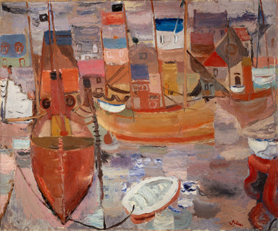 The Harbour Poster Art Print by William Gillies