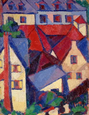 Red Roofs (Dieppe) Poster Art Print by Margaret Morris Fergusson