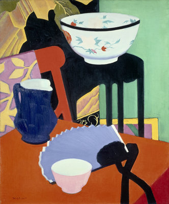 The Blue Fan Poster Art Print by Francis Campbell Boileau Cadell