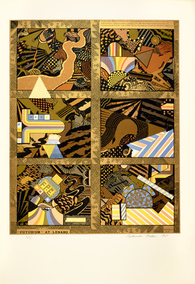 Futurism at Lenabo. From As is when Poster Art Print by Eduardo Paolozzi