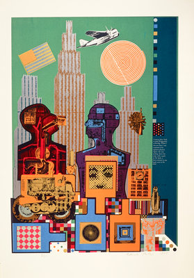 Wittgenstein in New York. From As is when Poster Art Print by Eduardo Paolozzi