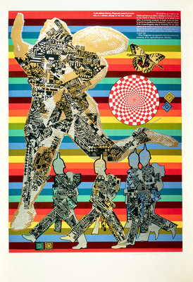 Wittgenstein the Soldier. From As is when Poster Art Print by Eduardo Paolozzi