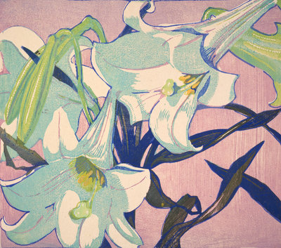 White Lilies Poster Art Print by Mabel Royds