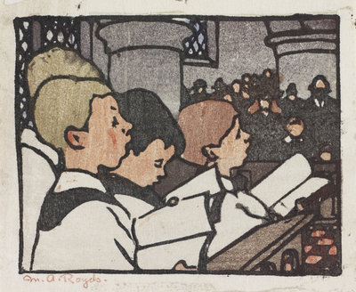 Choir Boys Poster Art Print by Mabel Royds