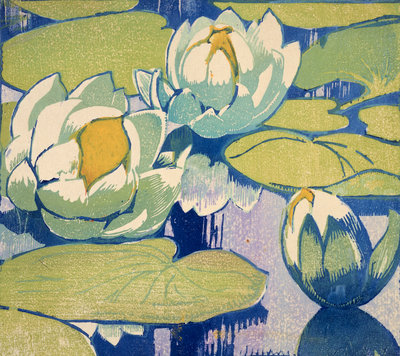 Water Lilies Poster Art Print by Mabel Royds