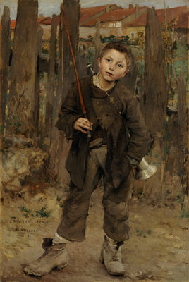 Fine Art Print of Pas Mèche [Nothing Doing] by Jules Bastien-Lepage