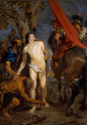 Saint Sebastian Bound for Martyrdom Poster Art Print by Sir Anthony van Dyck