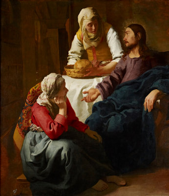 Christ in the House of Martha and Mary Poster Art Print by Johannes (Jan) Vermeer