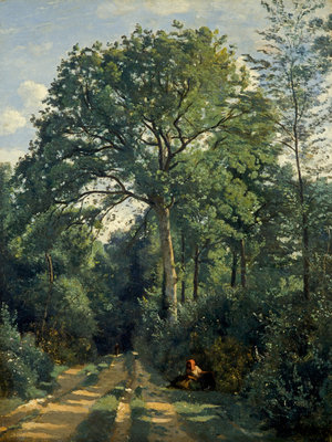 Ville-d'Avray: Entrance to the Wood Poster Art Print by Jean-Baptiste Camille Corot