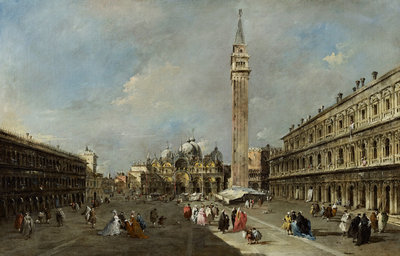 The Piazza San Marco, Venice Poster Art Print by Francesco Guardi
