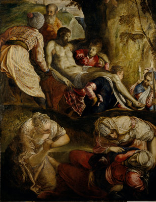 Christ Carried to the Tomb Poster Art Print by (Jacopo Robusti) Tintoretto