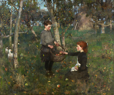 In the Orchard Poster Art Print by Sir James Guthrie