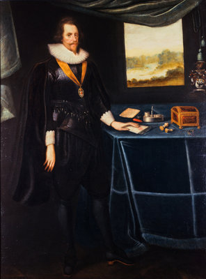 Sir Archibald Acheson (1583 -1634). Secretary of State Poster Art Print by George Jamesone