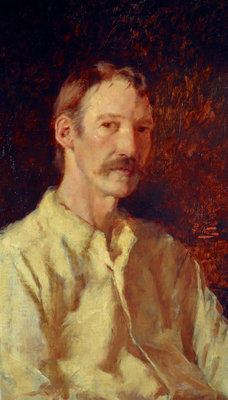 Fine Art Print of Robert Louis Stevenson, 1850 - 1894. Essayist, poet and novelist by Count Girolamo Nerli