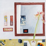 Fine Art Print of Japanese Still Life with Mirror by Elizabeth Blackadder