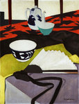 Still Life (The Grey Fan) Poster Art Print by Francis Campbell Boileau Cadell