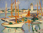 Boats at Royan Poster Art Print by Ian Cheyne