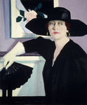 Fine Art Print of Portrait of a Lady in Black by Francis Campbell Boileau Cadell