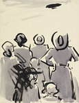 Fine Art Print of The Air Ship by Francis Campbell Boileau Cadell