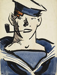 Fine Art Print of A Sailor by Francis Campbell Boileau Cadell