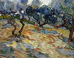 Fine Art Print of Olive Trees by Vincent Van Gogh