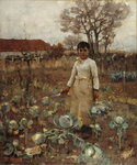 Fine Art Print of A Hind's Daughter by Sir James Guthrie