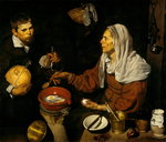 Fine Art Print of An Old Woman Cooking Eggs by Diego Velazquez