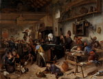 Fine Art Print of A School for Boys and Girls by Jan Steen