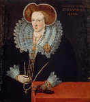 Lady Agnes Douglas, Countess of Argyll, about 1574 - 1607. Wife of the 7th Earl of Argyll Poster Art Print by unknown