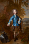 John Campbell, 3rd Earl of Breadalbane, 1696 - 1782. (as a child in highland costume) Poster Art Print by Count Girolamo Nerli