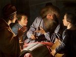 Philosopher and his pupils by Abraham Bloemaert - print