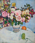 Still Life with Roses Poster Art Print by Peter Graham
