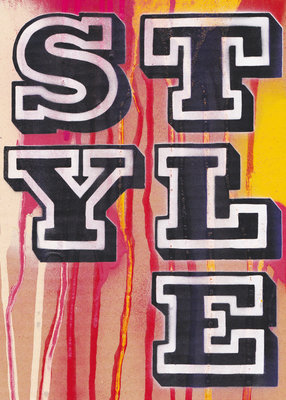 Style signed and limited edition by Ben Eine - print