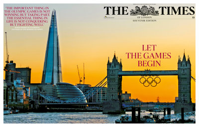 Tower Bridge Olympic Cover by Anonymous - print