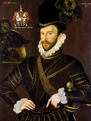 Richard Drake (1535-1603) Poster Art Print by George Gower
