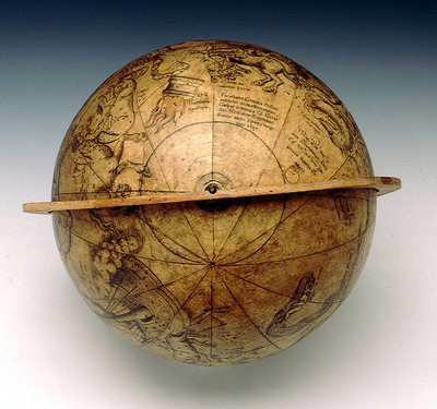 Celestial table globe by Gemma Frisius - print